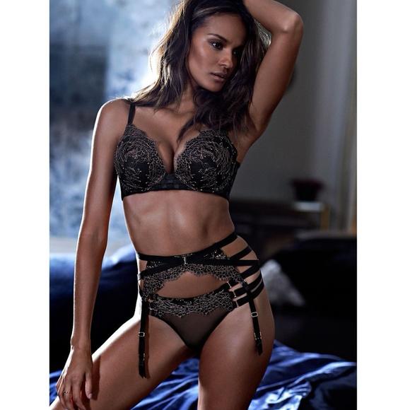 23a6ee957742c SET - VS Lace Strappy Garter Belt   Panty